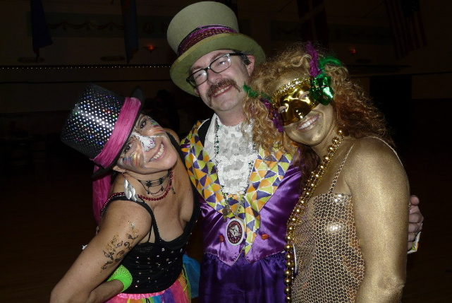 Good times at the mardi gras ball