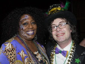 Lady A and Steve Kerin at the 2013 Mardi Gras Ball
