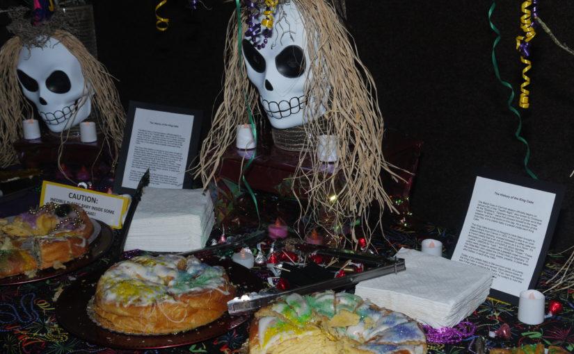 King Cake Display at the 2015 Ball